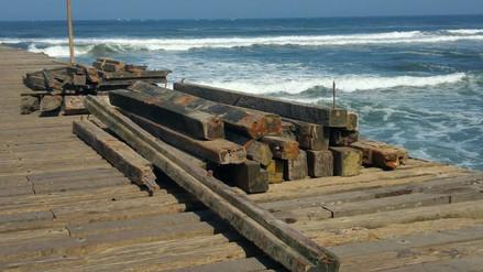 Chiclayo: oleajes anómalos causan serios daños en el muelle de Puerto Eten