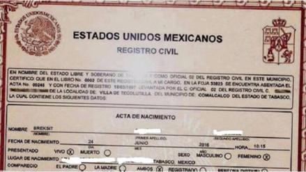 """México: nombran a niña """"Breksit"""" tras el referendo en Reino Unido"""