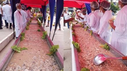 Más de mil personas degustan el ceviche amazónico en Pichanaki