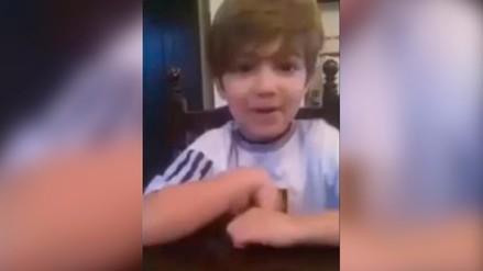 Video: niño argentino pide a Lionel Messi que no se marche de la Selección