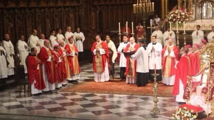 Cardenal Cipriani pidió a fieles orar por intenciones del Papa Francisco