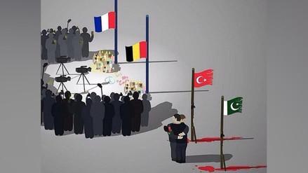 Twitter: ilustración critica la 'jerarquía de la muerte' cuando ocurre un atentado
