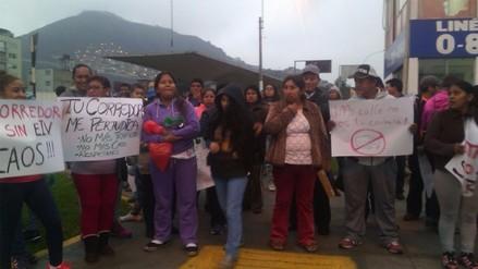 FOTOS: Pobladores protestan contra el Corredor San Juan de Lurigancho