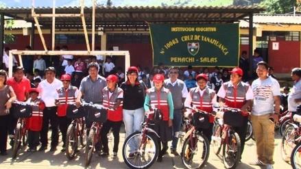 Ugel Lambayeque distribuye más bicicletas en zona rural andina de Salas