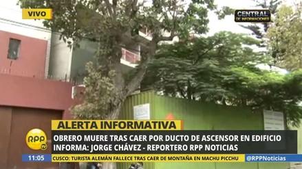 Obrero muere al caer por ducto del ascensor de edificio en San Isidro
