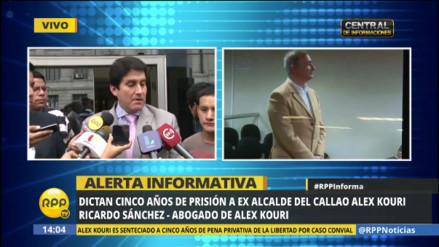 Abogado de Alex Kouri dice que interpondrán recurso de nulidad