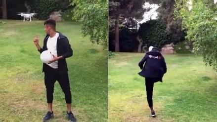 Facebook: Neymar se tumbó un dron y desafió a Ronaldo a imitarlo