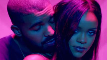 Drake no logró resistirse y besó a Rihanna frente a miles de personas