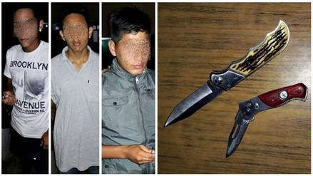 Trujillo: detienen a supuestos menores de edad con cuchillos