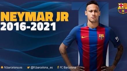 Barcelona confirmó renovación de Neymar hasta 2021