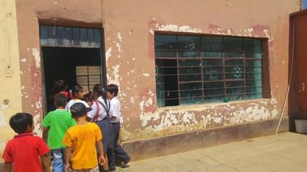 Colegio de Oyotún que está a punto de colapsar recibirá aulas prefabricadas