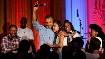 YouTube: Barack Obama cantó con Kendrick Lamar y Janelle Monáe