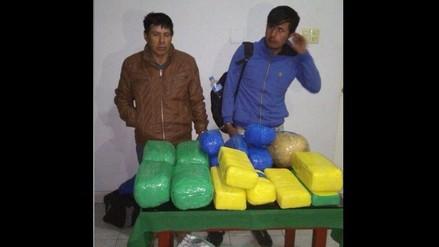 Otuzco: caen pasajeros con 24 kilos de marihuana en Agallpampa