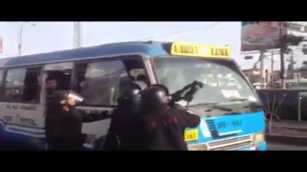 Ate: municipales agreden a pasajeros por defender ambulante