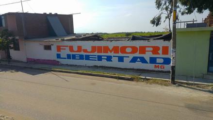 Chiclayo: aparecen pintas pidiendo la libertad del expresidente Alberto Fujimori