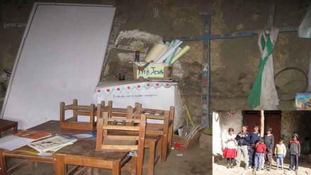 Huanta: niños reciben clases en capilla del distrito de Chaca