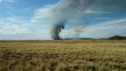 Puno: denuncian constantes incendios en totorales del Lago Titicaca