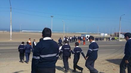 Huanchaco: 300 alumnos participan en exitoso simulacro de tsunami