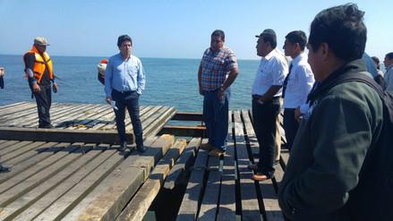 Autoridades inspeccionan infraestructura del muelle de Puerto Eten