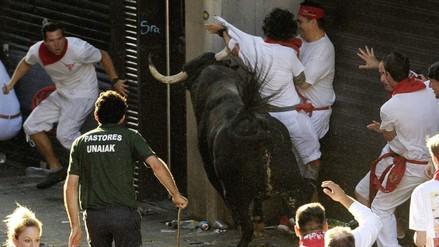 Segundo encierro de San Fermín dejó seis heridos, dos graves