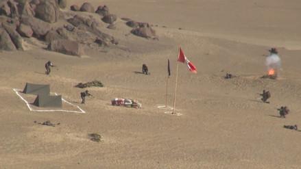 Cerca de mil soldados del Ejército se preparan en Pampas de Reque