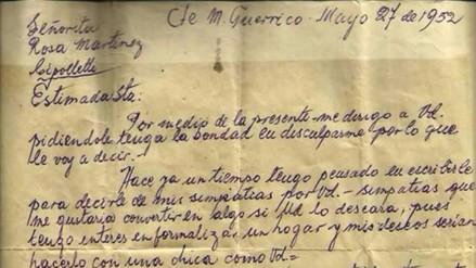 Twitter: la historia detrás de una carta de amor escrita en 1952