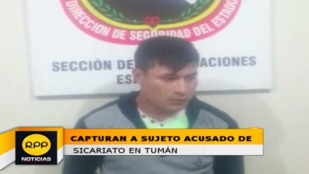 Capturan a sujeto acusado de sicariato en el distrito de Tumán