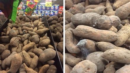 Facebook: reportan tubérculo con hongos en conocido supermercado