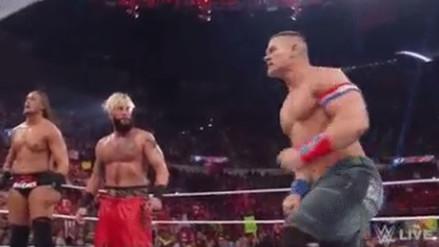 John Cena se unió a Enzo y Big Cass para enfrentar a AJ Styles y The Club