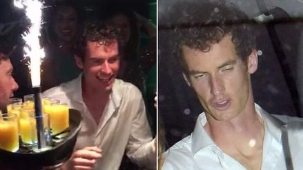Andy Murray se amaneció en fiesta tras ganar Wimbledon