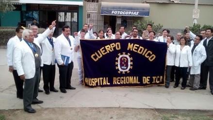 Médicos de hospital regional de Ica acatan paro de 48 horas