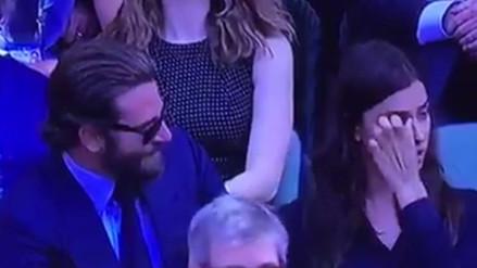 Twitter: Bradley Cooper e Irina Shayk son captados discutiendo en Wimbledon