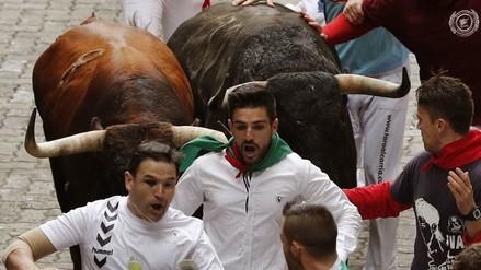 El séptimo encierro de San Fermín dejó un herido por asta de toro