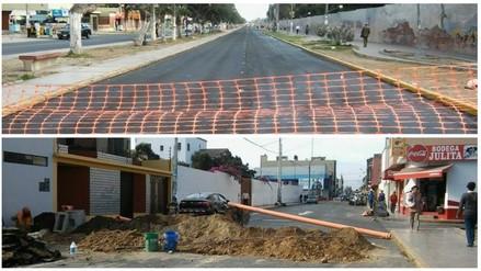 Trujillo: congestión vehicular por cierre de dos vías en centro de la ciudad