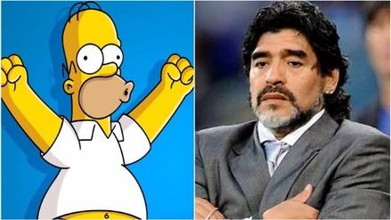 YouTube: Homero Simpson ninguneó a Diego Armando Maradona