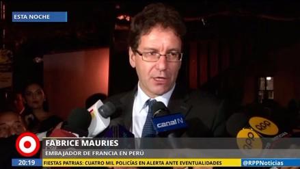 """Embajador de Francia: """"Debió ser un día de alegría, pero se convirtió en luto"""""""