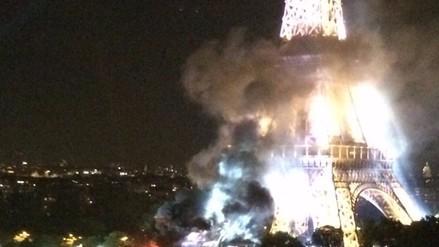 Francia: incendio se registró cerca a la Torre Eiffel / VIDEO