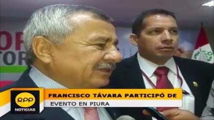 Francisco Távara insta a congresistas a concretar reforma electoral