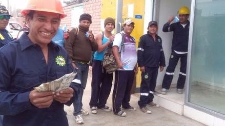Más de dos mil trabajadores de agroindustrial Pomalca cobran gratificación