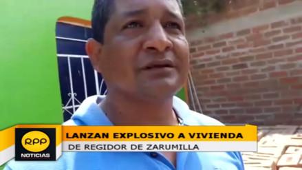 Lanzan explosivo a vivienda de regidor municipal de Zarumilla