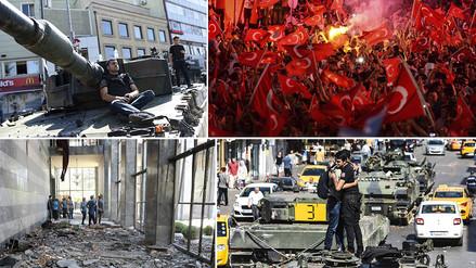 Imágenes de la tensión y destrucción del golpe de Estado fallido en Turquía