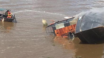 Iquitos: continúan desaparecidas cuatro personas tras explosión en embarcación