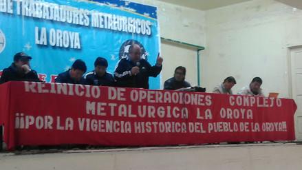 La Oroya: trabajadores de la Doe Run Perú rechazan propuestas