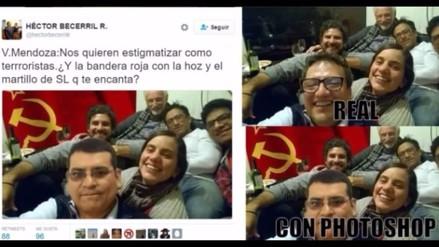 Héctor Becerril es blanco de burlas por foto trucada de Verónika Mendoza