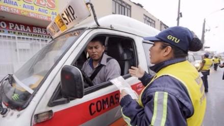 Combis informales son enviadas al depósito y multadas con 15 mil soles