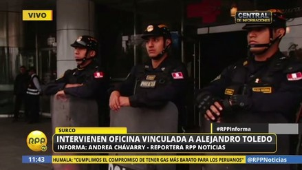 Caso Ecoteva: intervienen oficina vinculada a Alejandro Toledo