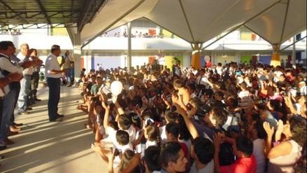 Presidente Humala inauguró colegio emblemático en Bagua