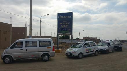 Algunos grifos de Lambayeque advierten abastecer de gas solo hasta hoy