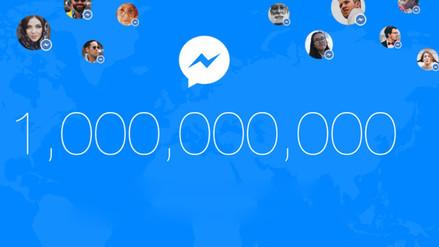 Facebook Messenger ya tiene mil millones de usuarios y alcanza a WhatsApp