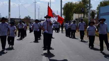 Pacientes de Chilpinilla participaron en desfile por Fiestas Patrias